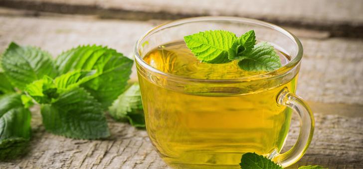 Зеленый мятный чай